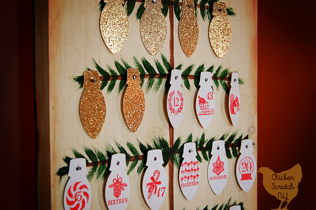 Craft a Christmas Countdown Tree you can use year after year. Customize by changing the paper ornaments to fit your color scheme