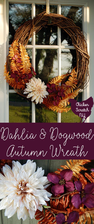 Dogwood & Dahlia Autumn Wreath