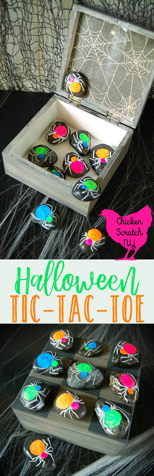Halloween Tic Tac Toe, Halloween game, Halloween Kids, Halloween DIY, Halloween Spider