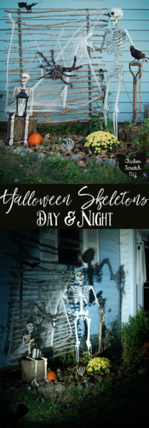 Skeleton, Halloween, Spooky, Spotlight, Scary, Spider Webs, Decorate yard