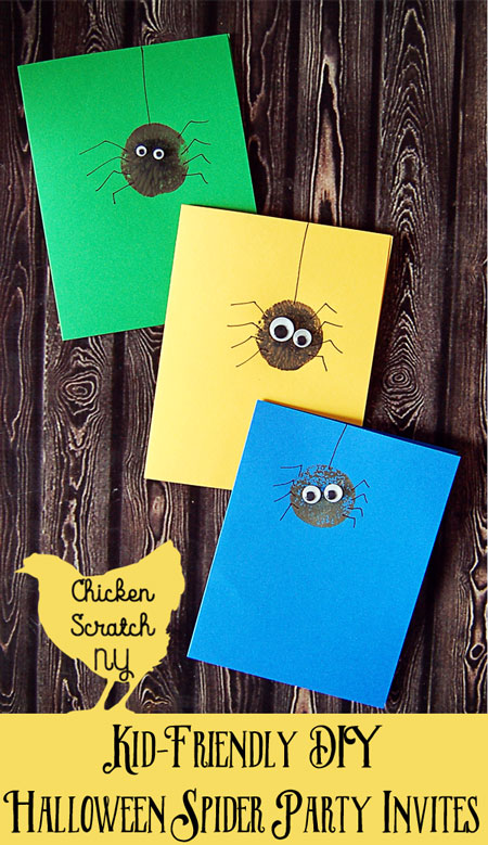 easy halloween party spider invitations