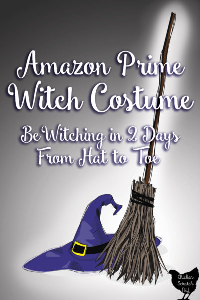 cartoon witch broom and hat