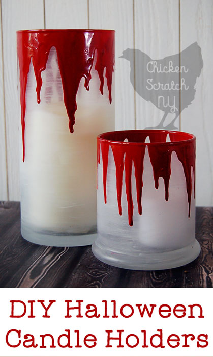 Halloween Candle Holder, Bleeding Candle Holder, Halloween DIY, Halloween Decoration