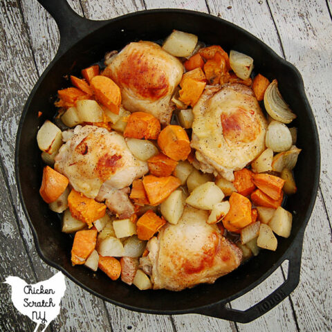 Maple Chicken & Potatoes Skillet Supper