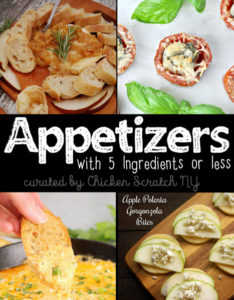 easy appetizer recipes with 5 ingredients or less