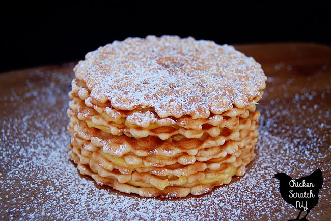 Whip up a batch of eggnog pudding and squish it between layers of cookies before throwing it in the fridge overnight for a delicious eggnog icebox cake