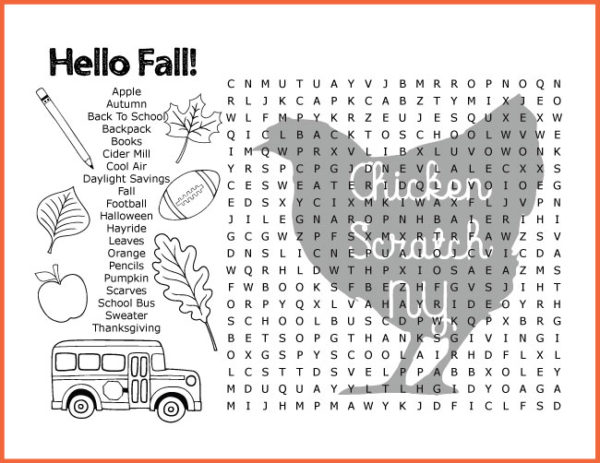 image regarding Fall Word Search Printable identified as Tumble Thanksgiving Phrase Appear