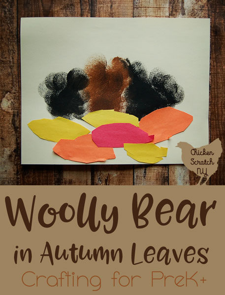 preschool craft, fall craft, kids craft, woolly bear