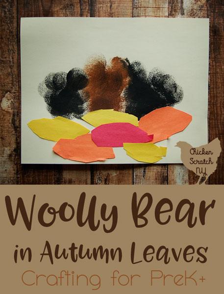 preschool craft, fall craft, kids craft, woolly bear