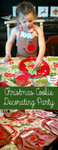 Entertain the little ones with a Holiday Cookie Party! Decorate giant Christmas Tree Cookies and keep the fun going with jingle bell necklaces and stickers