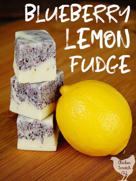 Creamy, sweet and tart this Blueberry Lemon Fudge is a perfect treat.The bright citrus flavors and sweet blueberry swirls are as pretty as they are tasty