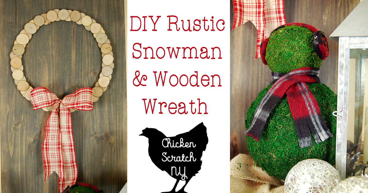Diy Rustic Snowman Amp Wreath Christmas Display