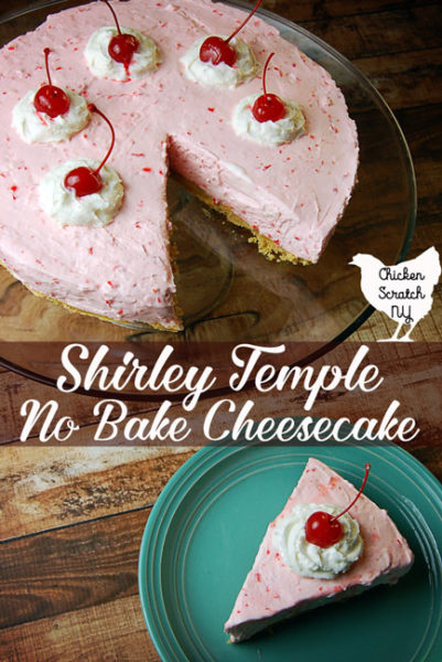 Whip up a sweet dessert with this Shirley Temple No Bake Cheesecake recipe. Made with cream cheese, maraschino cherries and real whipped cream in a lemon Oreo crust it's sure to be a hit