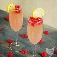 Raspberry Peach Mimosa