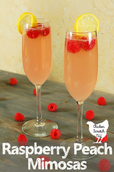 Pink Peach Raspberry Mimosa Recipe