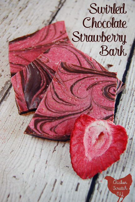 Forget hunting down a ripe strawberry in February, get the sweet strawberry and chocolate flavor combo in this Swirled Chocolate Strawberry Bark. It comes together quickly with 3 ingredients and a microwave so you can get back to smooching your sweetheart ASAP!