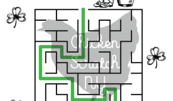 easy printable St. Patricks Day Maze