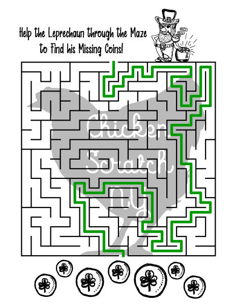 Hard printable st. patrick's day maze