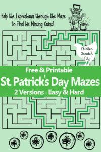 free printable st. patrick's day maze