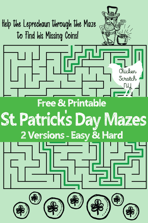 photograph about St Patrick Day Puzzles Printable Free called St. Patricks Working day Printable Mazes