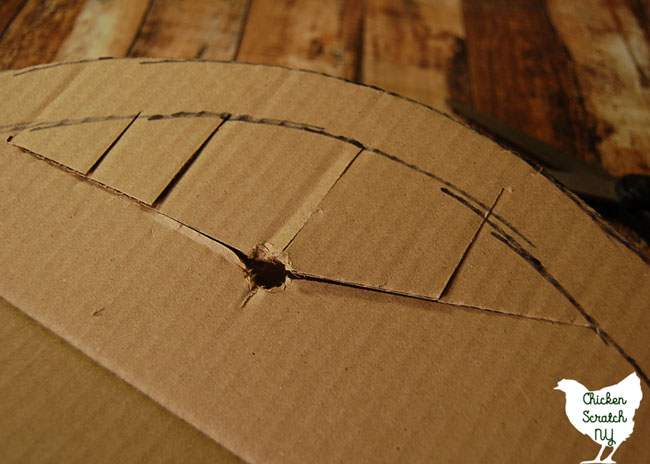how to cut cardboard circle