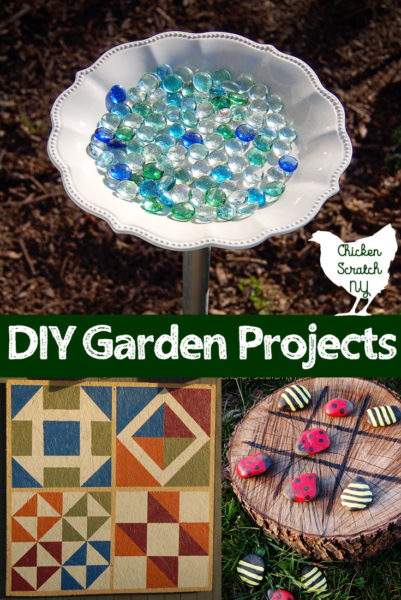 DIY garden projects, ladybug bumble bee tictactoe, DIY barn quilt, Bee waterer
