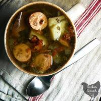 Apple Chicken Sausage Soup