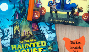 the best halloween books for kids with Little Blue Trucks Halloween and At The Old Haunted House on a wooden surface