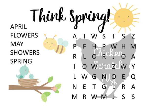 printable spring wordsearches