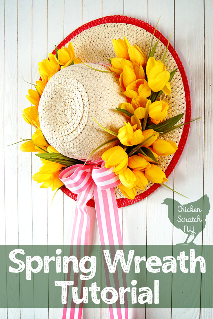 Spring Wreath Tutorial With Tulips And Sun Hat
