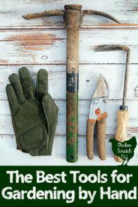 garden glove, garden cultivator, hand pruners, cape cod weeder