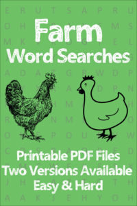 printable farm word searches for kids