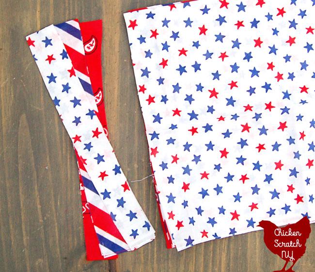 4th of July no sew americana garland from bandanas