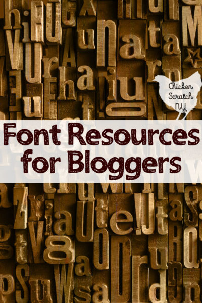 best font resources for bloggers