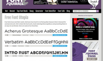 screenshot of font squirrel