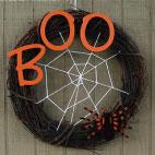 DIY Halloween Spider Web Wreath
