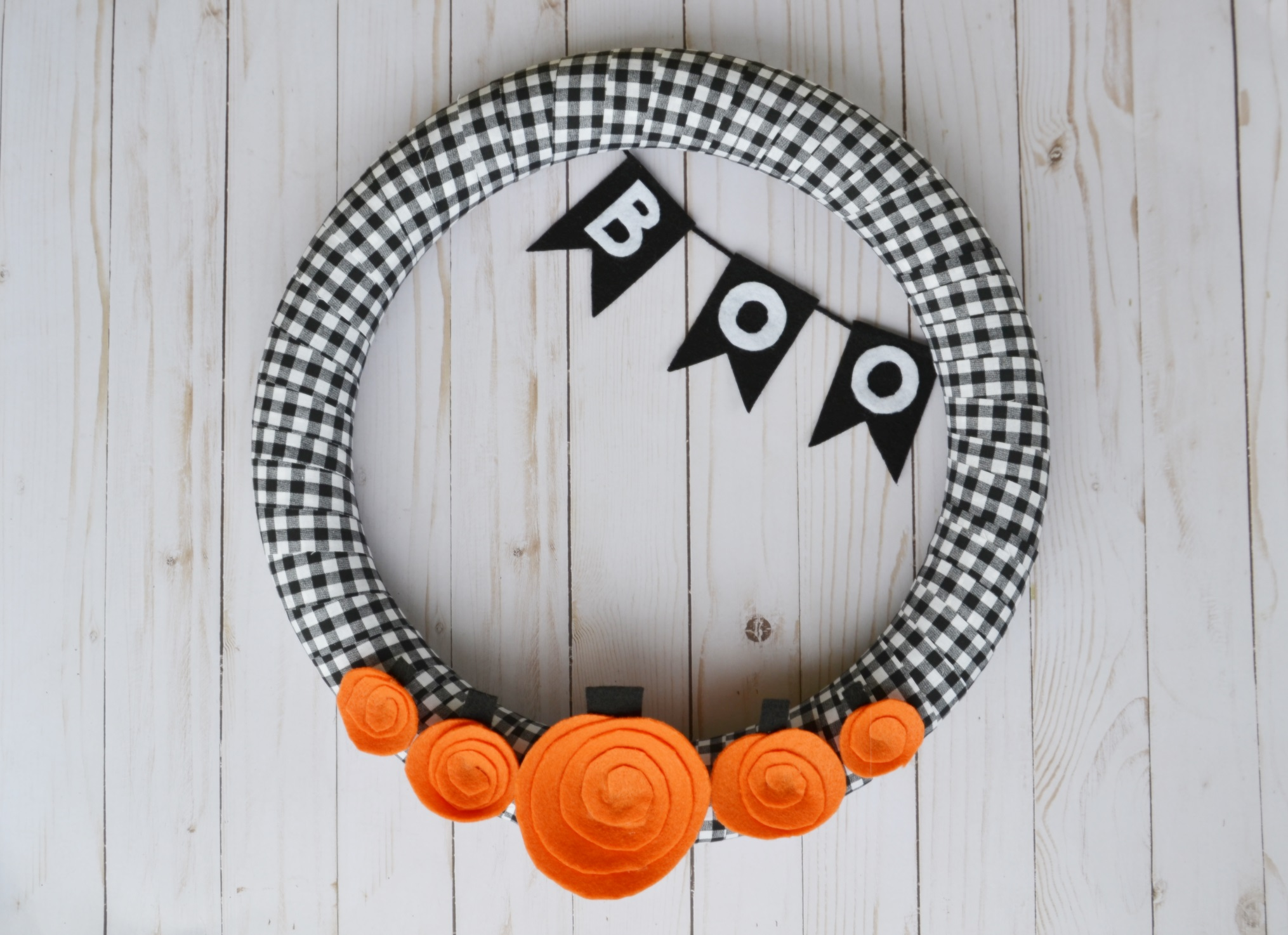 5 Little Pumpkins Wreath