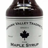 Maple Syrup - Pure, Grade A, Dark Color, Robust Taste, Glass Bottle (16 Fl Oz)
