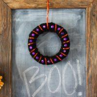 Easy Mini Halloween Wreath