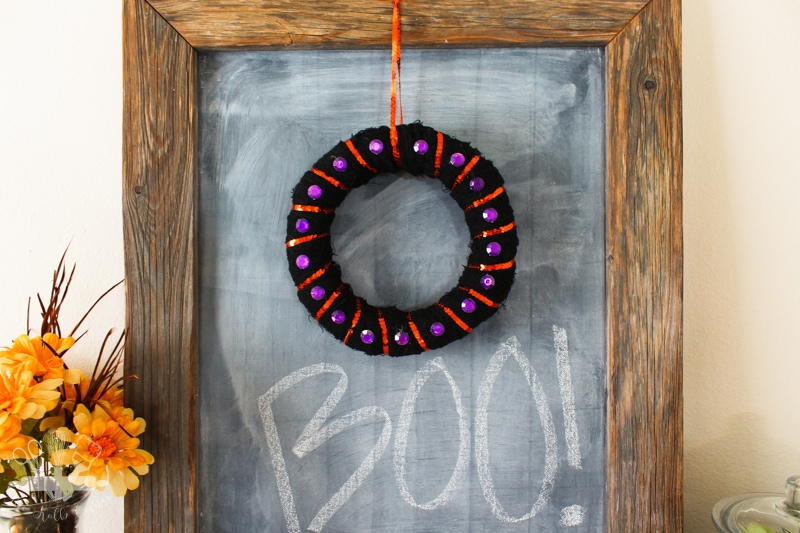 Mini Halloween Wreath