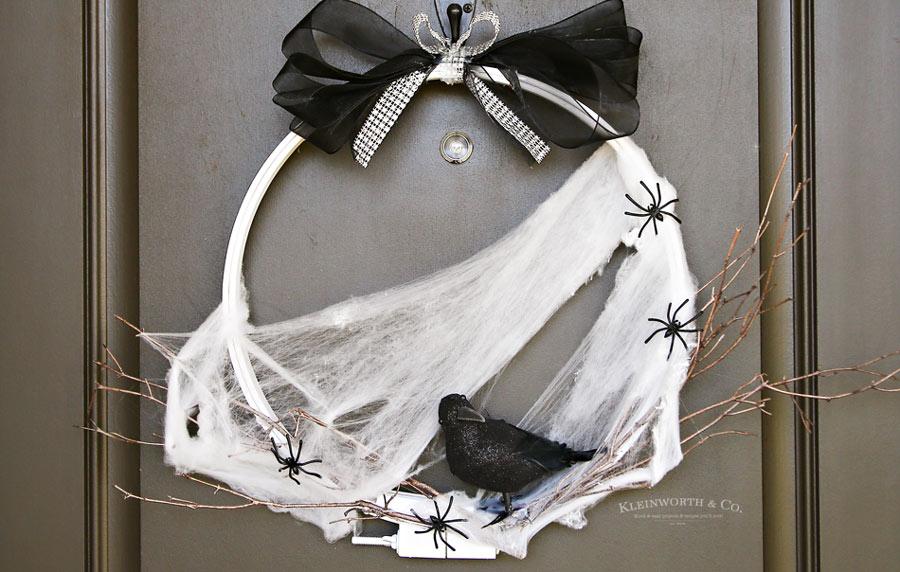 Spooky Raven Halloween Wreath