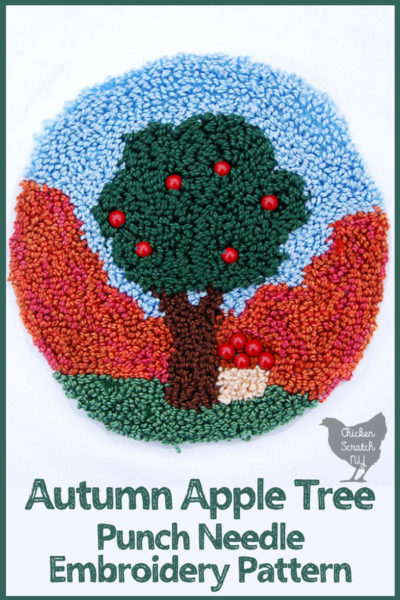 apple tree punch needle pattern