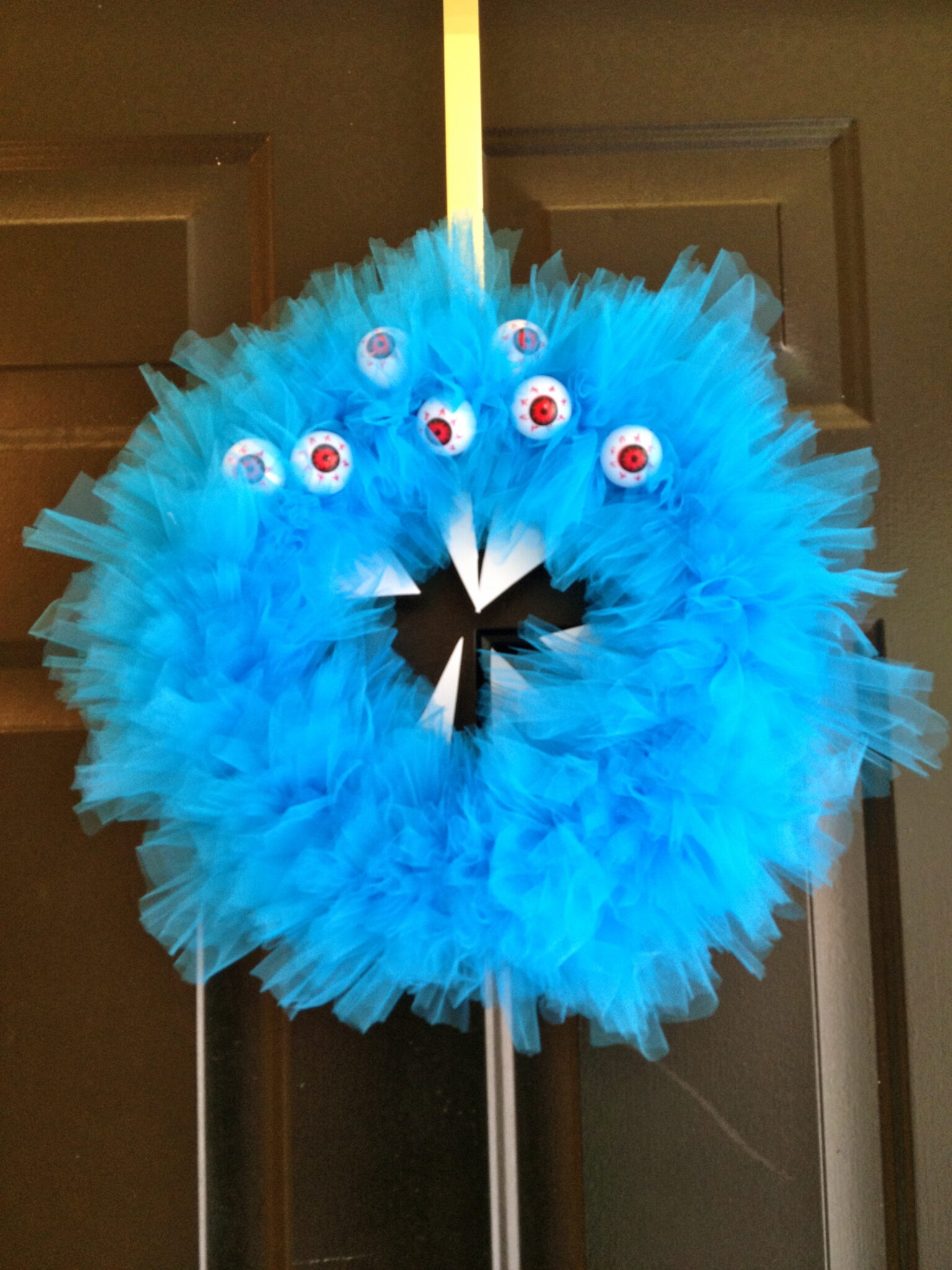 Blue Monster Wreath