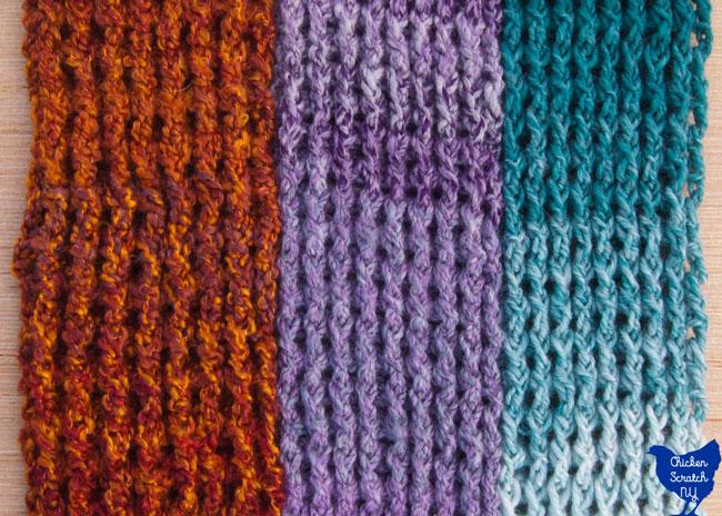 Around The Post Double Crochet Scarf
