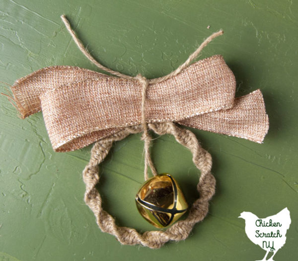 macrame ornament bow
