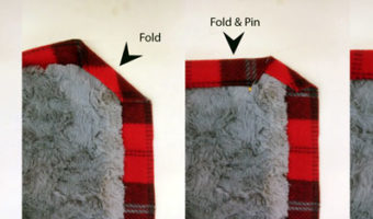 how to pin the corners on a fleece a fur selfbound blanket