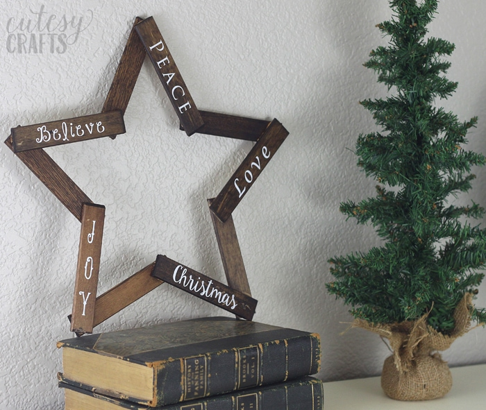 Easy DIY Wooden Christmas Decorations