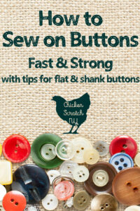 how to sew on a button quickly