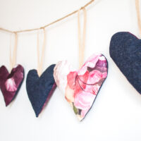 Making a Beautiful Heart Garland using Scrap Fabric