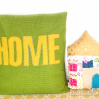 No sew pillow video tutorial that uses up all your scrap fabrics!